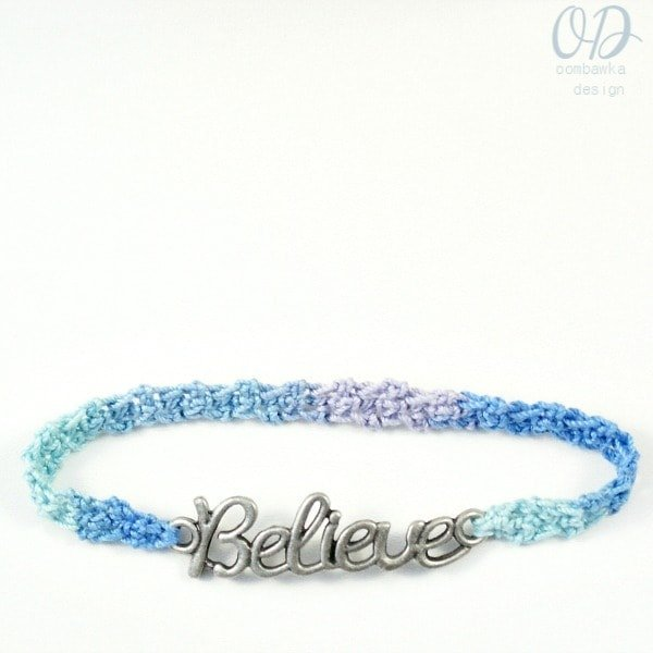 Believe Friendship Bracelet Free Pattern @Oombawkadesign