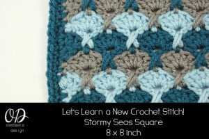 Stormy Seas Square | Let's Learn a New Crochet Stitch!