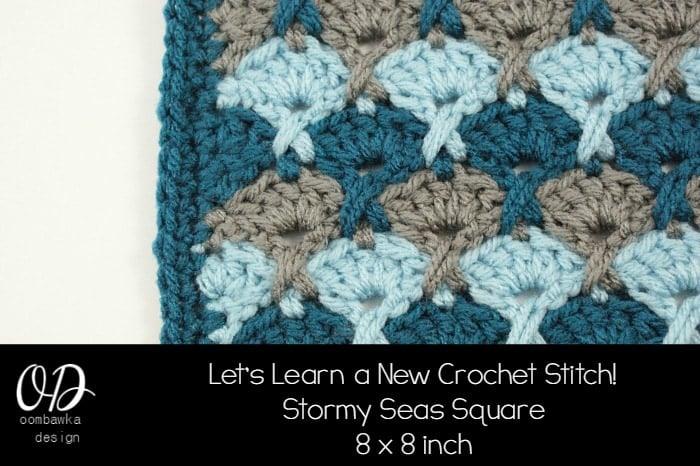 Crochet New Design : ... Square Lets Learn a New Crochet Stitch! ? Oombawka Design Crochet