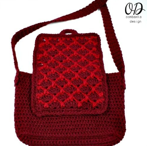 Simple Crochet Purse Back View @OombawkaDesign