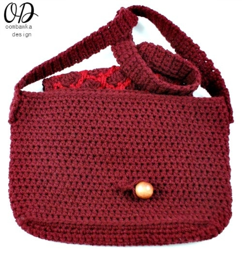 Bead Closure Simple Crochet Purse @OombawkaDesign