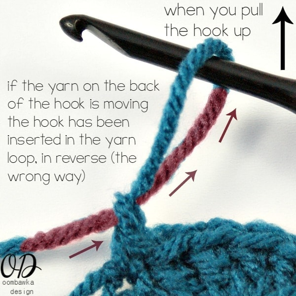 Wrong Way | Dropped Hook | Crochet Tip @OombawkaDesign