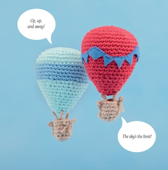 Hot Air Balloon | Happy-Gurumi | Book Review @OombawkaDesign