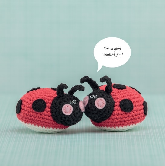 Ladybug | Happy-Gurumi | Book Review @OombawkaDesign