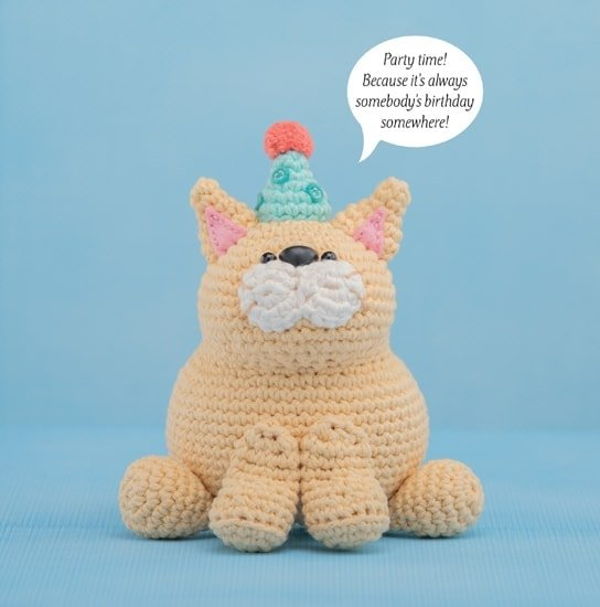 Party Cat | Happy-Gurumi | Book Review @OombawkaDesign