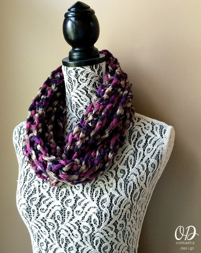 Isis Infinity Scarf Free Crochet Pattern From Red Heart Yarns : Red Heart Boutique Infinity Yarn Review & Giveaway ...