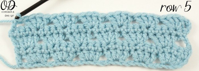 Row 5 | | Simplest Shell Stitch @OombawkaDesign