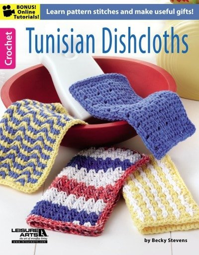 Tunisian Dishcloths | Tunisian Crochet Book Review @OombawkaDesign