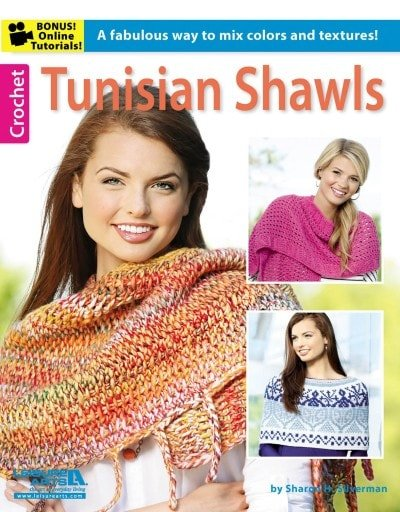 Tunisian Shawls | Tunisian Crochet Book Review @OombawkaDesign
