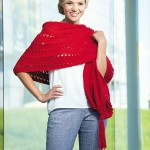 Red Hot Wrap | Tunisian Crochet Book Review @OombawkaDesign
