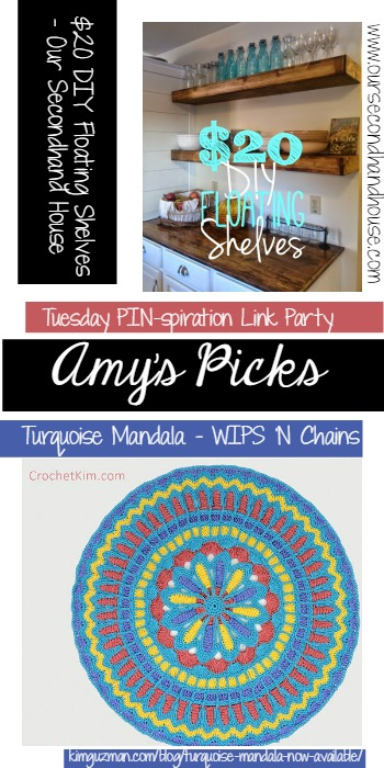 Amy's Picks Turquoise Mandala Kim Guzman and DIY Floating Shelves Our Secondhand House