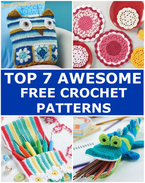 Top 7 Awesome Free Crochet Patterns | Elaine's Guest Post @OombawkaDesign