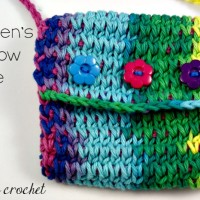 Children's Rainbow Purse | Free Tunisian Crochet Pattern