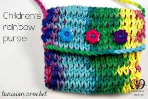 Cover | Children's Crochet Purse | Free Tunisian Crochet Pattern @OombawkaDesign