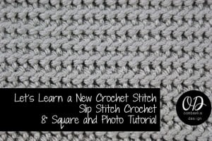 Cover | Slip Stitch Crochet Square | LLANCS @OombawkaDesign