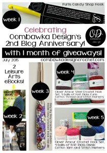 2nd Blog Anniversary Giveaway Collage @OombawkaDesign