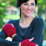Cabled Mitts | | Tunisian Crochet Book Review @OombawkaDesign