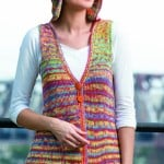 Hoodie Vest | Tunisian Crochet Book Review @OombawkaDesign