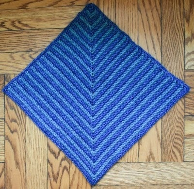 Mitered Square Pet Blanket, free crochet pattern by Marie Segares on Oombawka Design-3