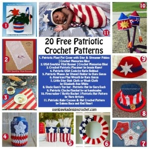 20 Free Patriotic Crochet Patterns