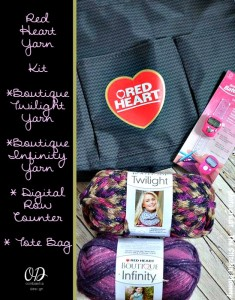 Red Heart Boutique Infinity Yarn Review & Giveaway