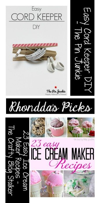 Rhonddas Picks - Easy Cord Keeper The Pin Junkie 23 Easy Ice Cream Maker Recipes The Crafty Blog Stalker