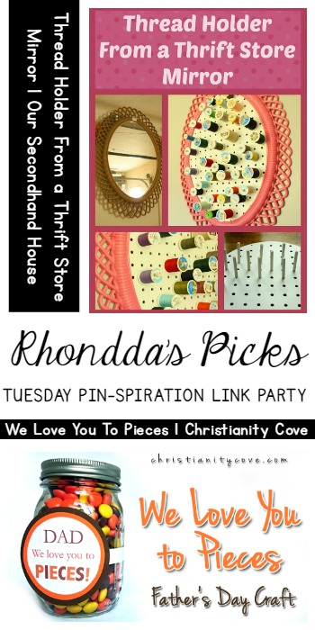 Rhonddas Picks Thread Holder Our Secondhand House and We Love You to Pieces Christianity Cove | Tuesday PIN Party