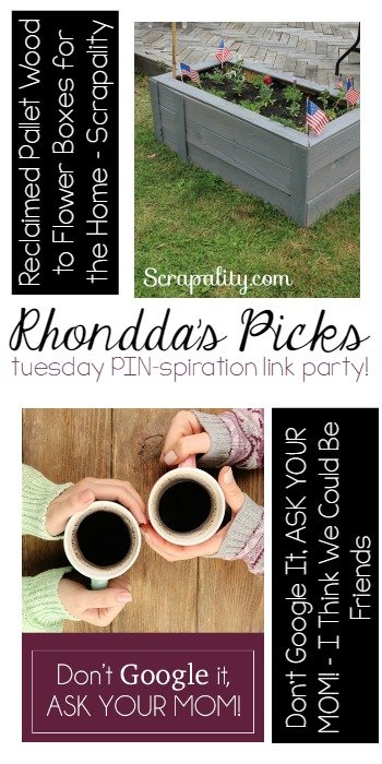 Rhandda's Picks | Tuesday PIN-spiration Link Party