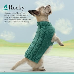 Rocky | Seamless Knits for Posh Pups | Martingale Book Review | Oombawka Design