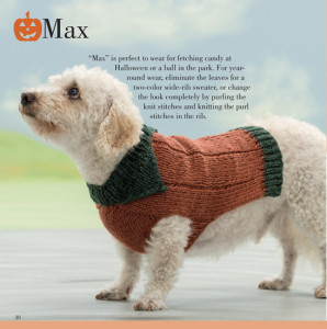 Max | Seamless Knits for Posh Pups | Martingale Book Review | Oombawka Design