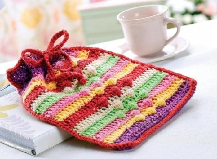 Hot Water Bottle  | Top 7 Awesome Free Crochet Patterns | Elaine's Guest Post @OombawkaDesign