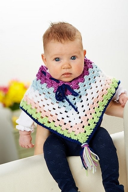 Poncho  | Top 7 Awesome Free Crochet Patterns | Elaine's Guest Post @OombawkaDesign