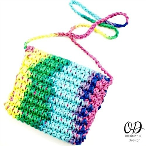 Back | Children's Crochet Purse | Free Tunisian Crochet Pattern @OombawkaDesign