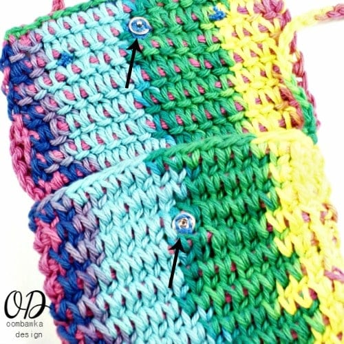 Snaps | Children's Crochet Purse | Free Tunisian Crochet Pattern @OombawkaDesign