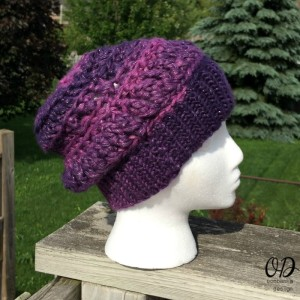 Side View | Enchanted Infinity Slouch Hat | Free Pattern @OombawkaDesign