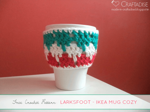 Larksfoot Stitch IKEA Mug Cozy | Guest Post Made in Craftadise @OombawkaDesign