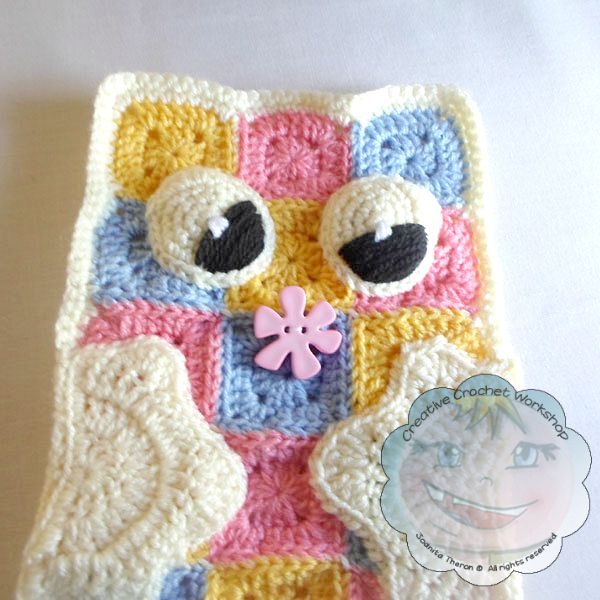 10 Granny Square Pajama Buddy | Guest Contributor Post | Joanita | Creative Crochet Workshop @OombawkaDesign