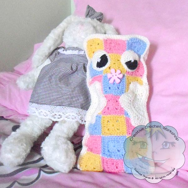 2 Granny Square Pajama Buddy | Guest Contributor Post | Joanita | Creative Crochet Workshop @OombawkaDesign