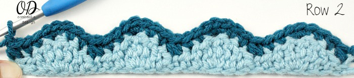 2 Row | Wave and Chevron Stitch | LLANCS @OombawkaDesign