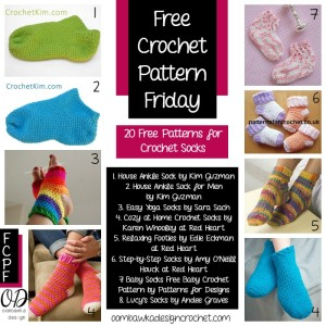 20 Free Patterns for Socks | FCPF @OombawkaDesign