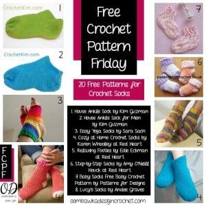 20 Free Patterns for Socks | FCPF @OombawkaDesign