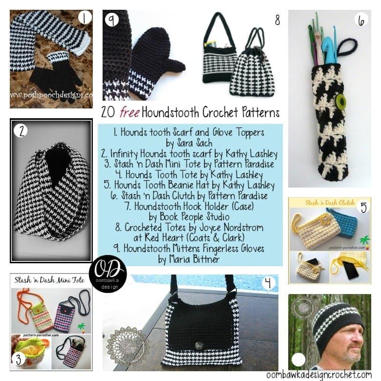 20 Free Houndstooth Crochet Patterns Oombawka Design Crochet