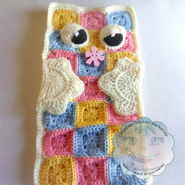 9Granny Square Pajama Buddy | Guest Contributor Post | Joanita | Creative Crochet Workshop @OombawkaDesign