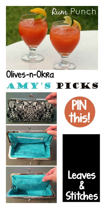 Amys Picks Olives n Okra and Leaves and Stitches