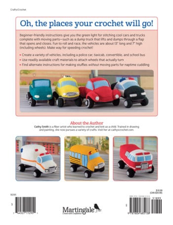 Back Cover | Honk! Beep! Vroom! - Crochet Toys That Move | Review | @OombawkaDesign