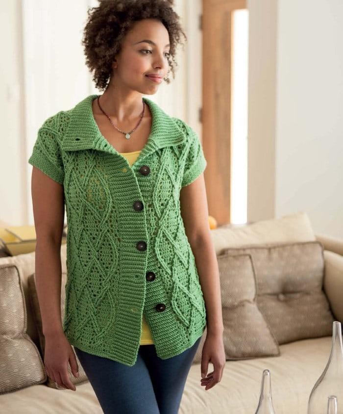 Clover Car Coat | Blueprint Crochet Sweaters | Book Review | Oombawka Design