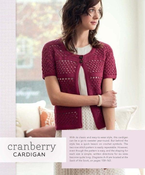 Cranberry Cardigan | Blueprint Crochet Sweaters | Book Review | Oombawka Design