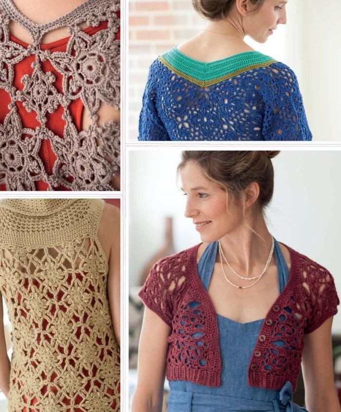 Granny Motif Construction | Blueprint Crochet Sweaters | Book Review | Oombawka Design