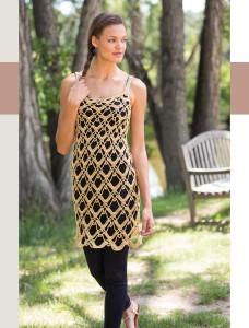 Dominique Dress   Colorful Crochet Lace   Review @OombawkaDesign