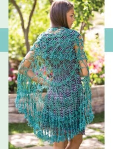 Parisian Gardens Circular Shawl | Colorful Crochet Lace | Review @OombawkaDesign